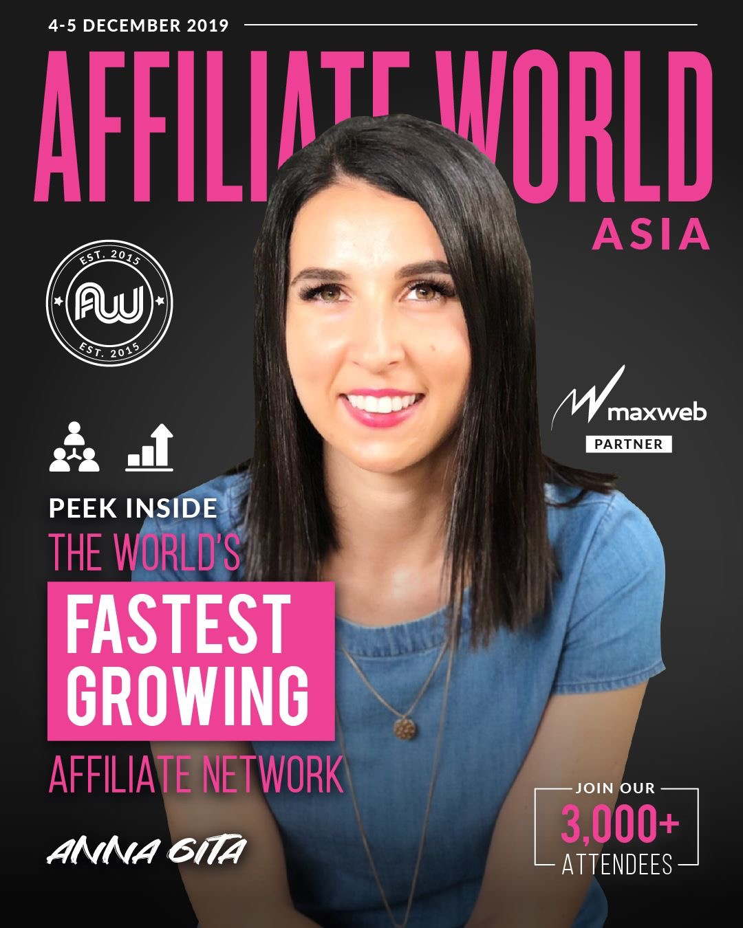 Anna Gita on the cover of AffiliateWorld Asia Magazine